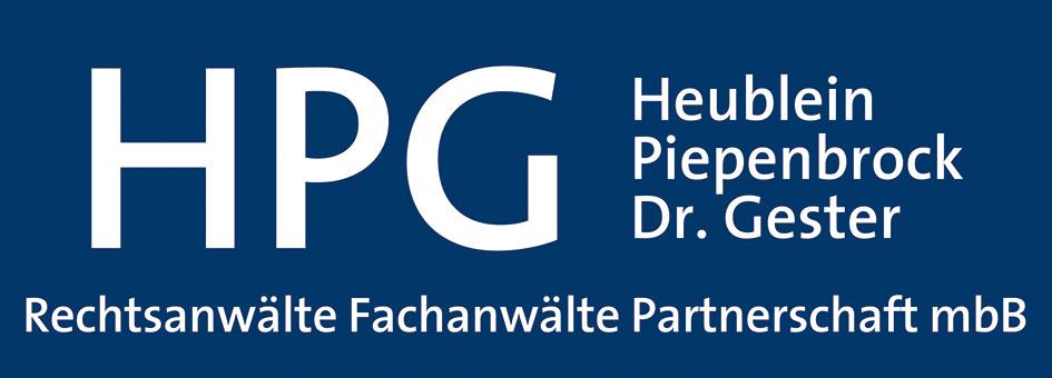 HPG Heublein Piepenbrock Dr. Gester Rechtsanwälte Fachanwälte Partnerschaft mbB.